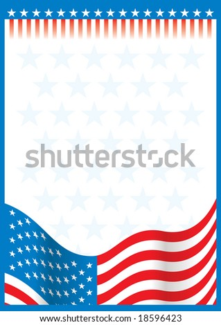 usa paper - stock vector
