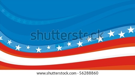 USA patriotic background - stock vector