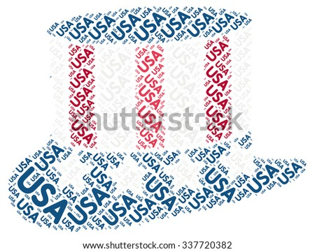 USA Patriotic Hat: Word Cloud Tag
