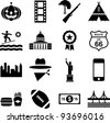 USA pictograms - stock photo