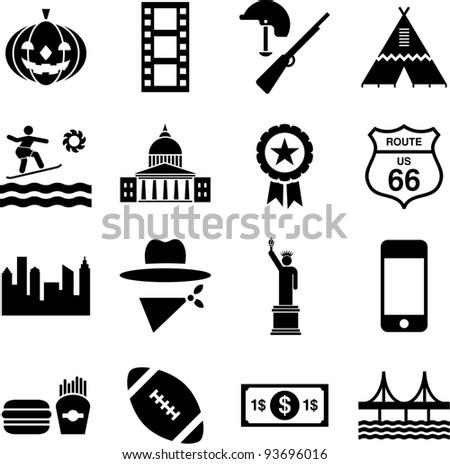 USA pictograms - stock vector