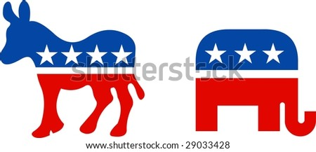 USA political symbols - stock vector