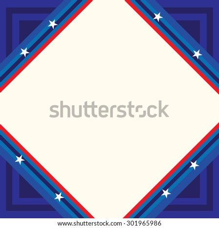 USA poster, banner and template design