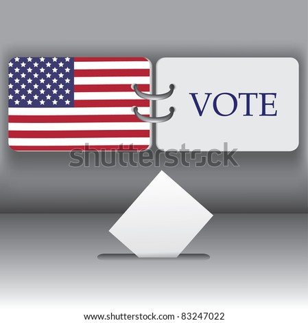 USA 2012  presidential election background - stock vector