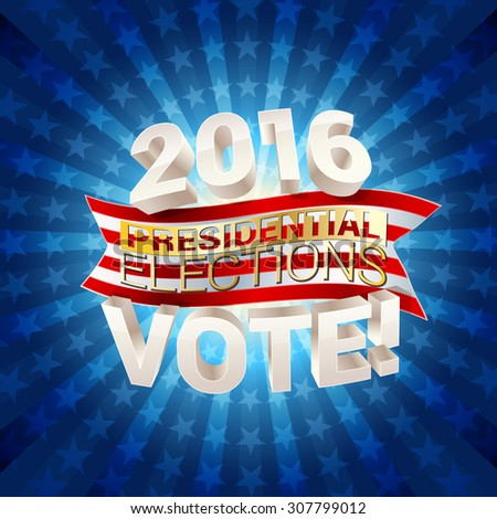 USA presidential elections background. vector illustration - stock vector