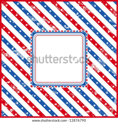 usa square background with texture, vector illustration - stock vector