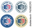 USA Stamp. Statue of liberty stamp, sign. Vector isolated. - stock photo