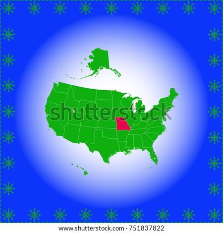 Usa State Missouri Map Stock Vector 751837822 Shutterstock