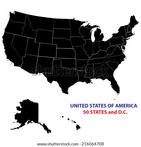 Usa States Map Vector Image All Stock Vector Shutterstock - Usa staes map