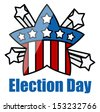 USA theme - Democracy - Election Day Vector Illustration - stock vector
