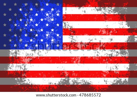 Usaunited States America Grunge Old Scratched Stock Vector - How old is the united states of america