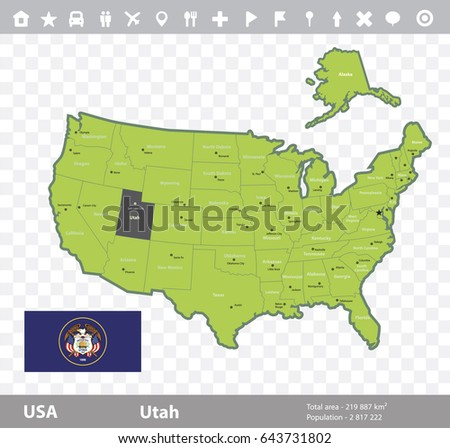 Utah Map Stock Images RoyaltyFree Images Vectors Shutterstock - Map usa utah