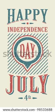 USA vector icons for american independence day - stock vector