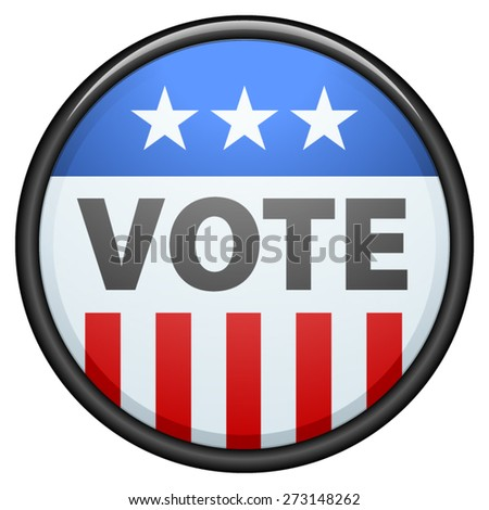 USA Vote button - stock vector