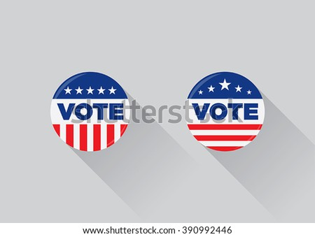 USA Vote button (pin badge) - stock vector