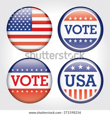 USA Vote election badge button  - stock vector