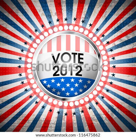 USA vote symbol eps10 - stock vector