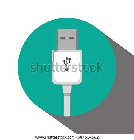 Usb concept with technology icons design, vector illustration 10 eps graphic.