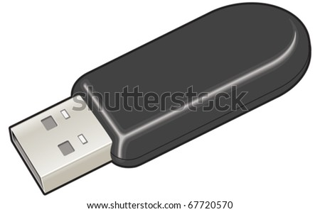 USB dongle device vector illustration - stock vector