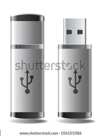 Usb flash - stock vector