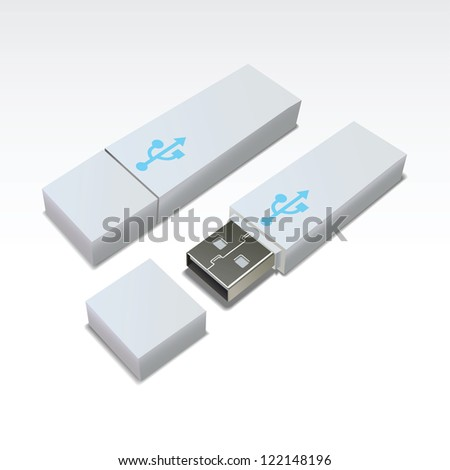 USB Flash Drive - stock vector