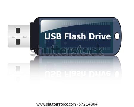 USB flash drive icon, vector - stock vector