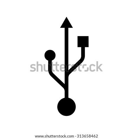 Usb icon . Vector illustration - stock vector