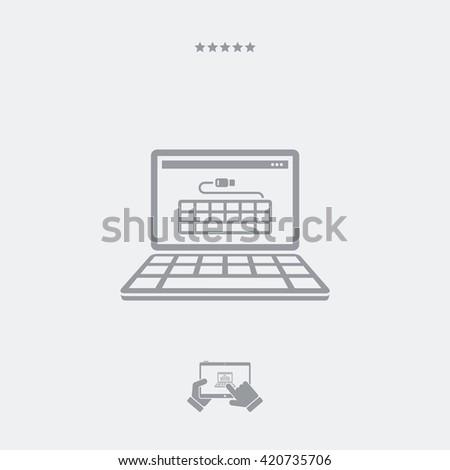 Usb keyboard flat icon - stock vector