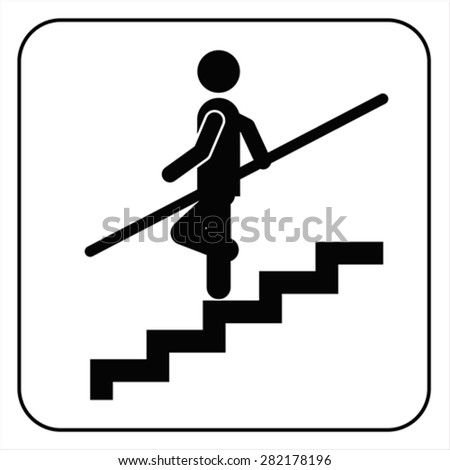 Use Handrail sign isolated on white, vector