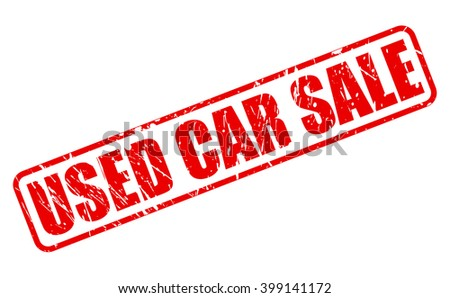 USED CAR SALE RED STAMP TEXT ON WHITE - stock vector