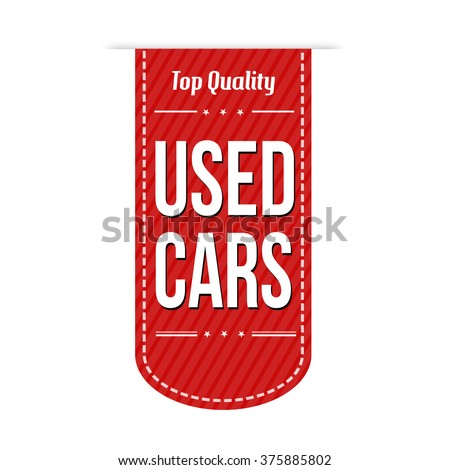 Used cars banner design over a white background, vector illustration - stock vector