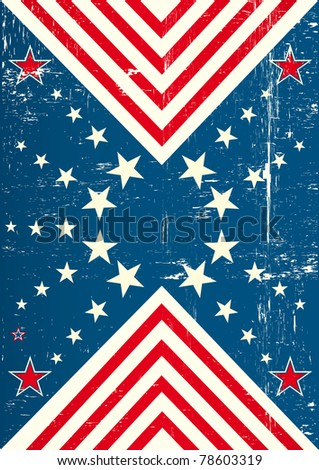 used poster of USA. An american poster with a texture - stock vector