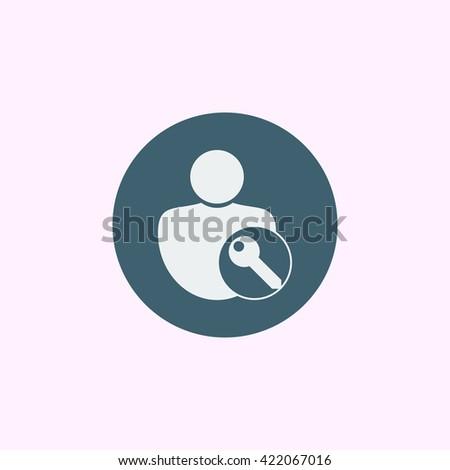 user access icon, user access symbol, user access vector, user access eps, user access image, user access logo, user access flat, user access art design, user access blue ring  - stock vector
