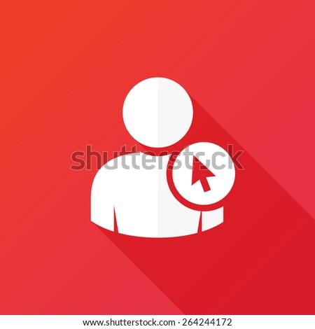 User cursor icon - stock vector