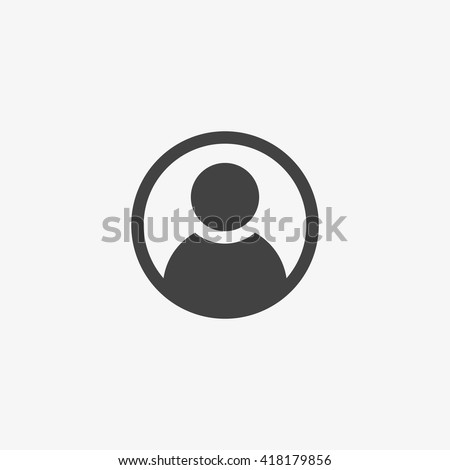 User Icon in trendy flat style isolated on grey background. User symbol for your web site design, logo, app, UI. Vector illustration, EPS10. - stock vector