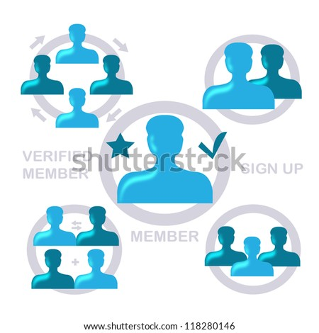 User Icons Set - Isolated On White Background - Vector Illustration, Graphic Design Editable For Your Design. Logo Icons  - stock vector