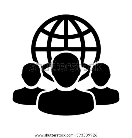 User Icons - Team, Group, Leader, Business, Customer, Client, Management etc. - stock vector