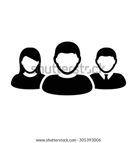 User Icons - Team, Group, Leader, Business, Management etc. - stock vector