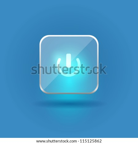 User interface glass switch button (On/Off) - stock vector
