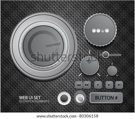 User interface set. Dj design elements - stock vector