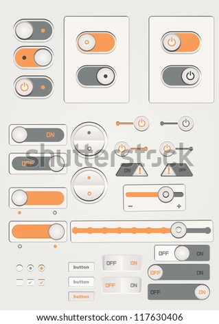 user interface toggle switch on off icon sets