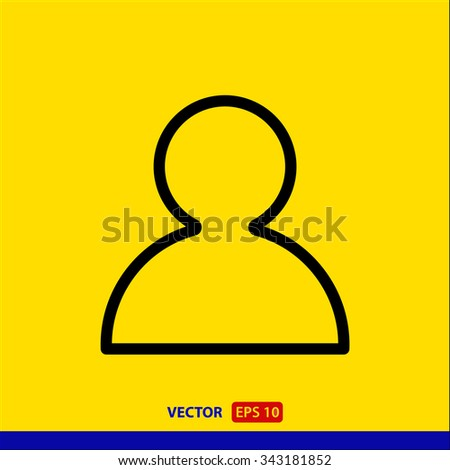 User, linear icon. One of a set of linear web icons - stock vector