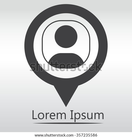 User login or authenticate icon, vector. Connection icon. black map pin. - stock vector
