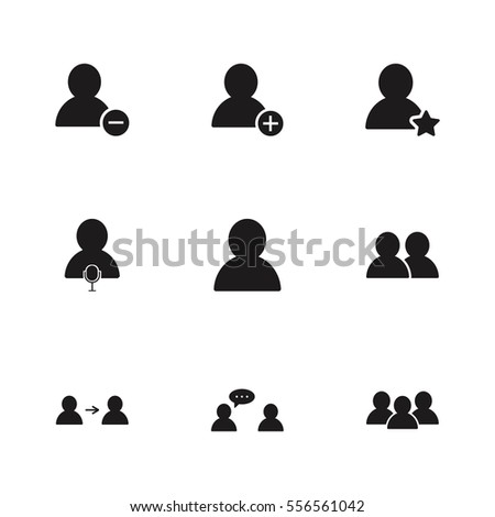 user set icon illustration isolated vector .