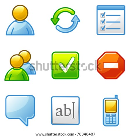 Users web icons - stock vector