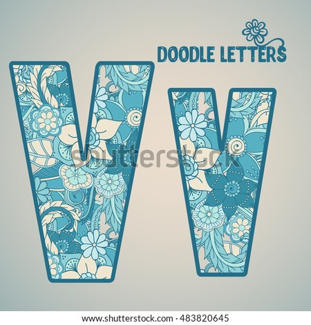 V flower letter isolated vector illustration stock vector v flower letter isolated vector illustration altavistaventures Choice Image