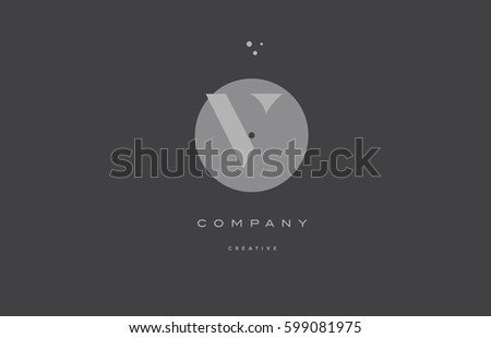 V Grey Modern Stylish Alphabet Dot Stock Photo Photo Vector