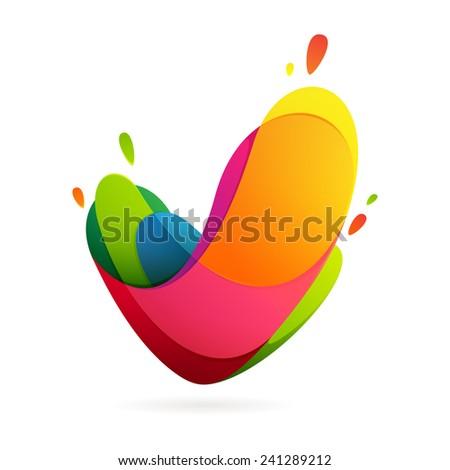 V letter volume logo - stock vector