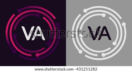 Va Letters Business Logo Icon Design Stock Vector 429255772 ...