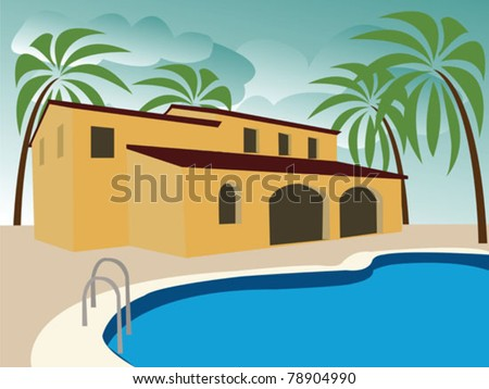 vacancy house with swimming pool
